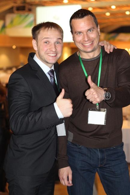Фото Алексея Виноград и Владислава Челпаченко с Инфолидеры 2013
