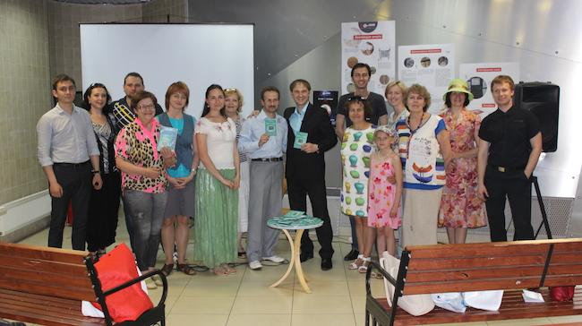 Фото после презентации книги в Буквоеде