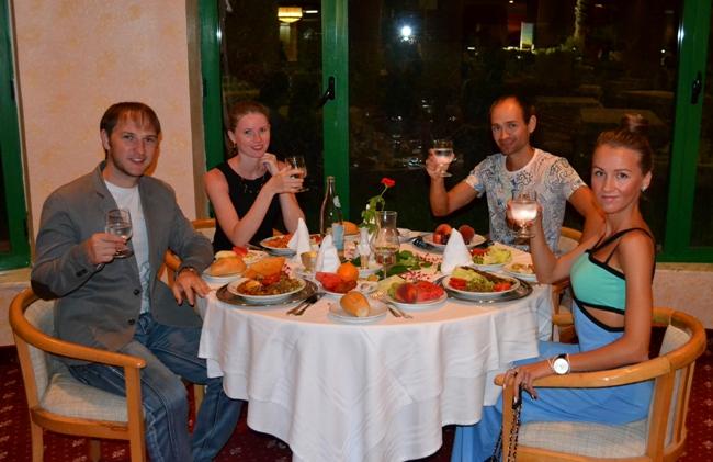 Тунис - ужин в ресторане