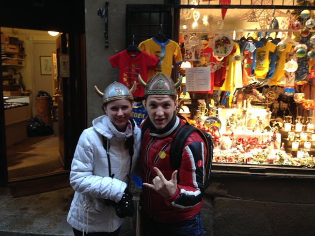 Шапка шлем викинга с рогами