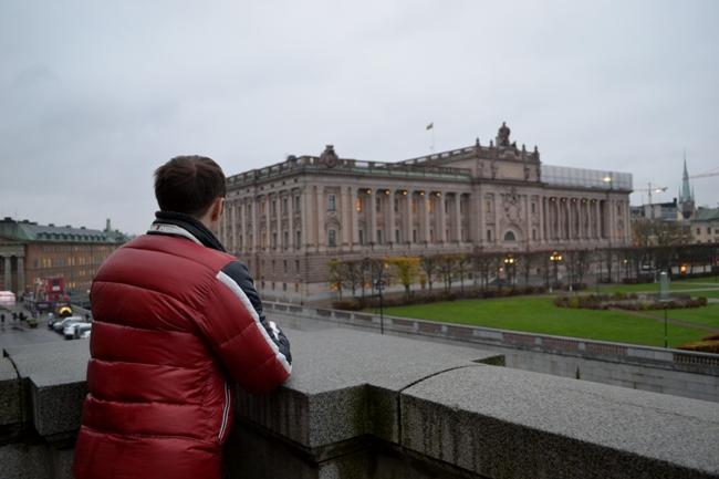 Парламент в Стокгольме - фото