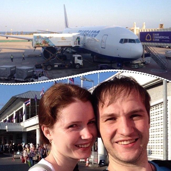 Фото в аеропорту Тайланда