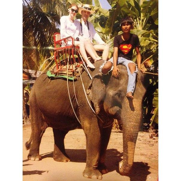 Фото - на слоне в Тайланде