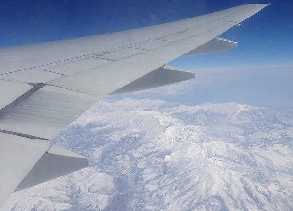 Фото из окна самалёта - летим в Тайланд