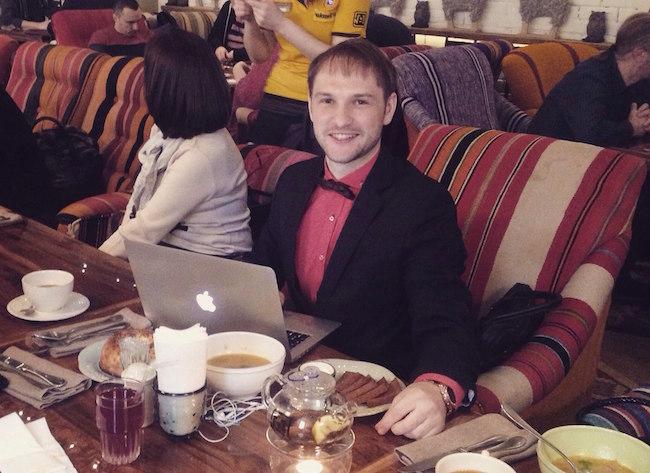 Обед во время поездки на тренинг Тимура Тажетдинова
