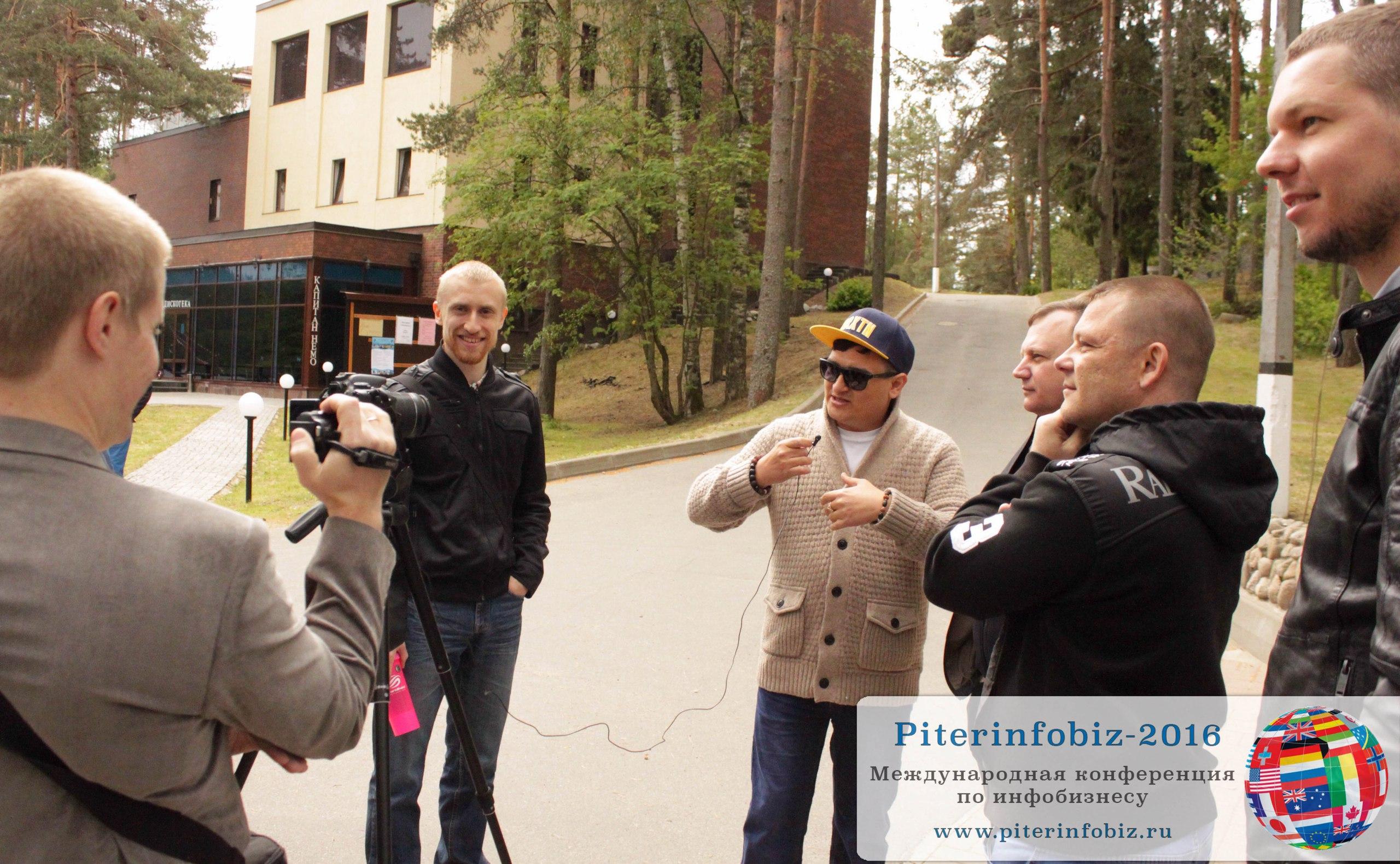 Артём Плешков записывает отзыв о конференции Piterinfobiz-2016