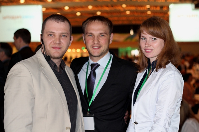 Фото с ведущим конференции Инфолидеры