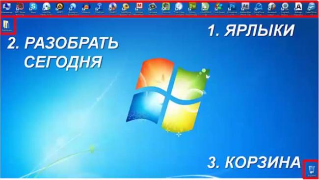 Порядок на рабочем столе компьютера