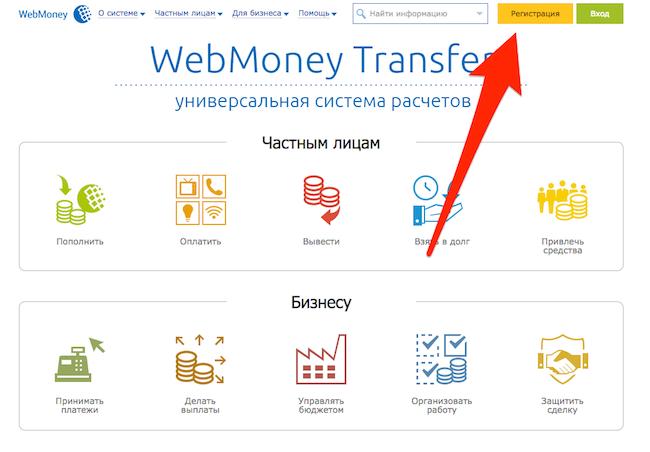 Система вебмани - регистрация