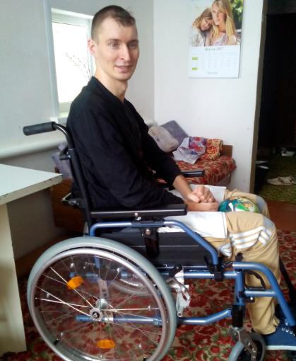 Николай Подсевалов в специальном кресле